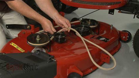 craftsman riding lawn mower deck  belt replacement
