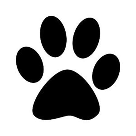 Paw Print Silhouette Clipart Best Paw Print Silhouette
