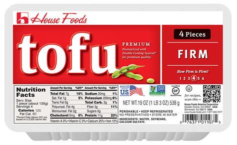 premium tofu firm 19 oz 4 pcs tofu product house foods
