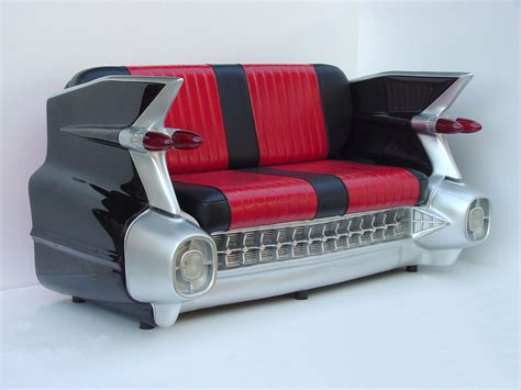 Retro 59 Black Cadillac Car Sofa