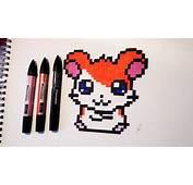 Hamtaro Drawing  Kawaii Pixel Art YouTube