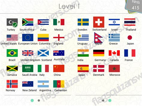 names of countries in and image gallery national flags answers