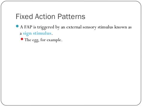 fixed action pattern definition psychology animal behavior powerpoint