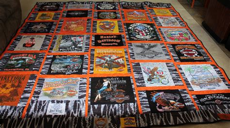 Harley Davidson Quilts For Sale by Harley Davidson T Shirt Quilt Bird Quilts
