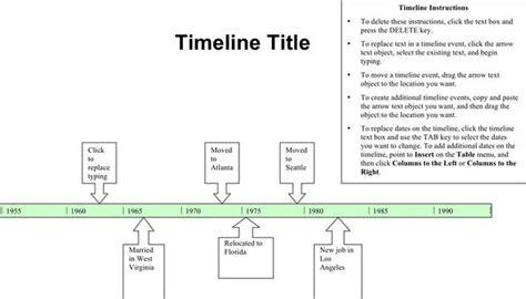 timeline template free premium templates