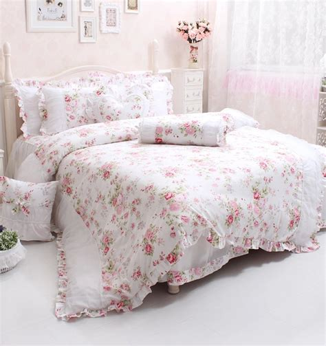 Set Pink Flowery pink dusty pink bedding sets ease
