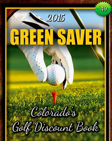Inexpensive Golf Giveaways - colorado green saver golf discount book