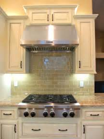 khaki glass subway tile modern kitchen backsplash subway