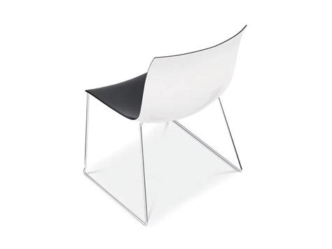 catifa stuhl design chair with metal sled base color seat