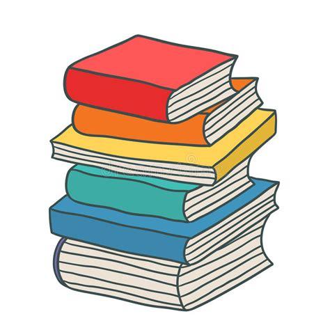 libro bluets стог шаржа нарисованный рукой книг иллюстрация вектора иллюстрации насчитывающей пурпурово