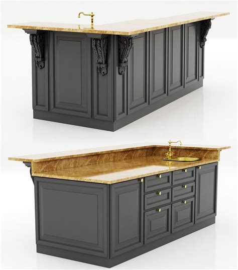 mobile kitchen island 3d model formfonts 3d models colonial kitchen island 3d model cgtrader throughout