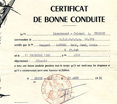 Lettre De Recommandation Bonne Conduite Modele Certificat Bonne Conduite Document