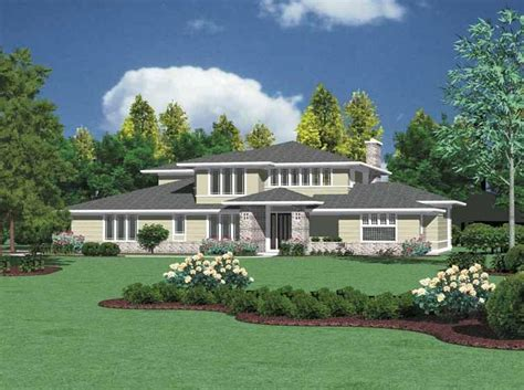outlook prairie style home plan 011s 0050 house plans prairie style house plans with photos