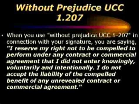 Ucc Section 1 308 by Ucc 1 207 4 Reserves Your Common Rights