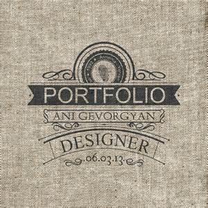 portfolio cover page on behance