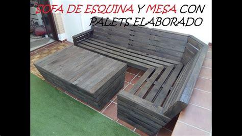 sofa  palets sofa de esquina  mesa  palets cajones