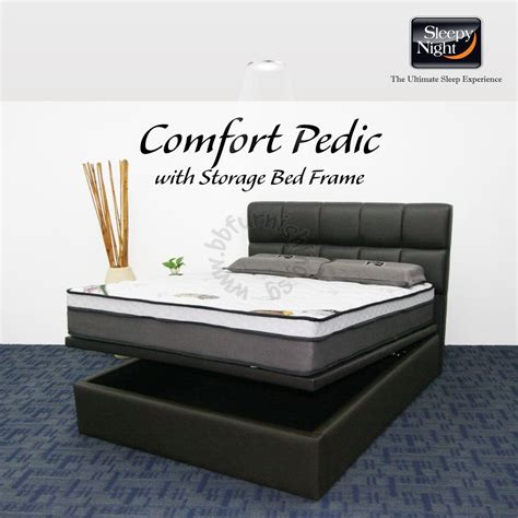 Bed Comforta Pedic Comfort Pedic Mattress With Jean Storage Bedframe
