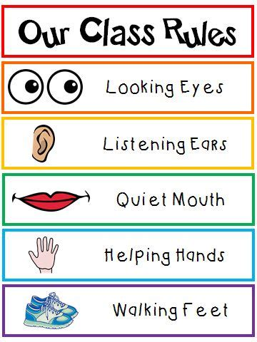 printable toddler classroom rules our class rules creative chinese