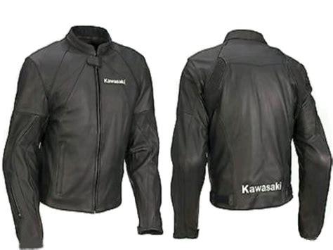 leather motorcycle racing jacket motorcycle kawasaki leather racing jacket black size l