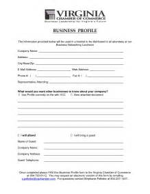 industry profile template business profile template it resume cover letter sle