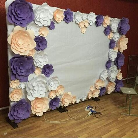 Wedding Backdrop Paper Flowers by 32 Best Decor Sala Images On Marriage Wedding