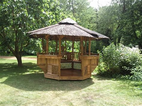 bamboo gazebo octagonal bamboo gazebos by protech direct