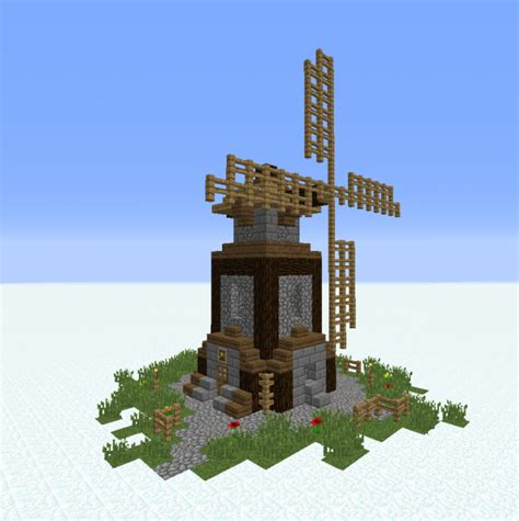 Medieval Simple Windmill - GrabCraft - Your number one ... Minecraft Windmill Farm