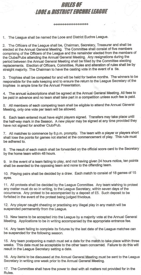 printable euchre instructions image gallery euchre rules