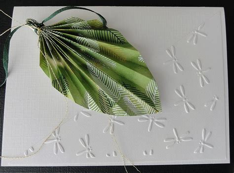Origami Leaf Card - snap happy birding origami leaf cards