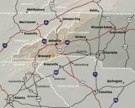 map of brevard carolina mountain brook brevard nc