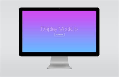 thunderbolt display thunderbolt display presentation mockup medialoot
