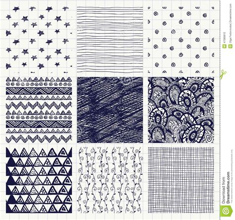 pattern making in art pen drawing seamless textures stock vector image 47089810