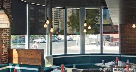 Motorized Sun Shades Patio Restaurant Window Treatments