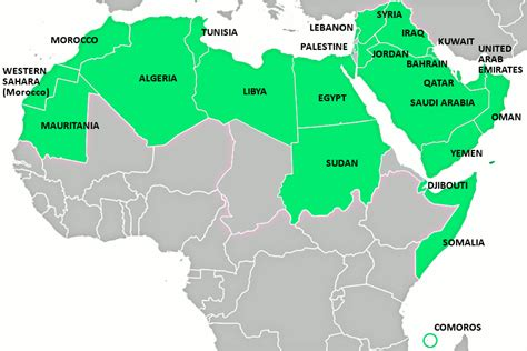arab map countries arab countries images