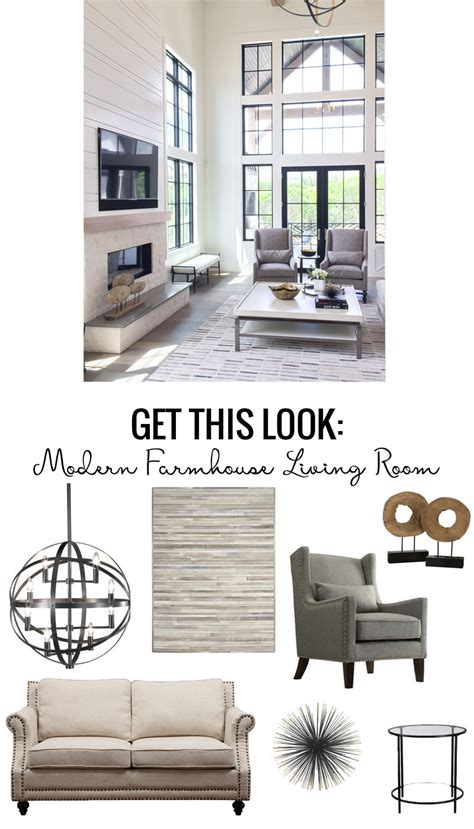 French Country Livingroom Remodelaholic Get This Look Modern Farmhouse Living Room