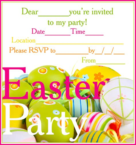 printable easter birthday cards easter colouring free printable easter party invitations