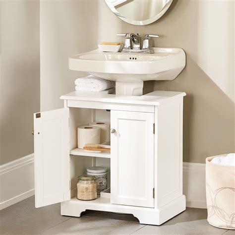 weatherby bathroom pedestal sink storage cabinet small