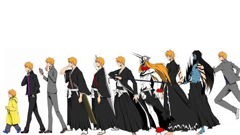 Wallpaper Kurosaki Ichigo, Shinigami, Character Evolution