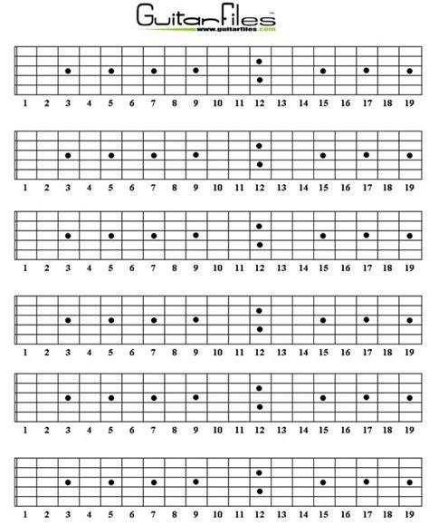 guitar neck diagram blank guitar fretboard diagrams guitar files