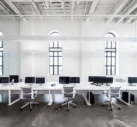 blue communications modern white office 8 office spaces