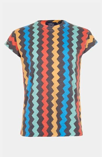 Lovlia Zig Zag Casual Blouse topman zigzag print t shirt available at nordstrom
