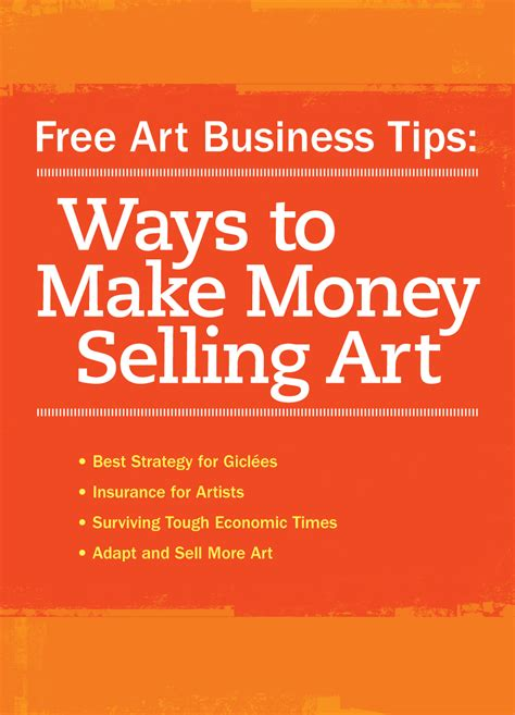 How To Make Money From Your Art Online - how to market yourself as an artist a free ebook