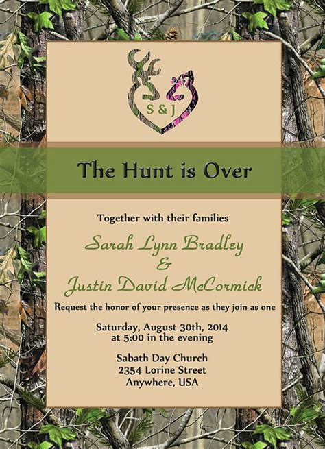 invitation layout inspiration wedding invitation templates the hunt is over wedding