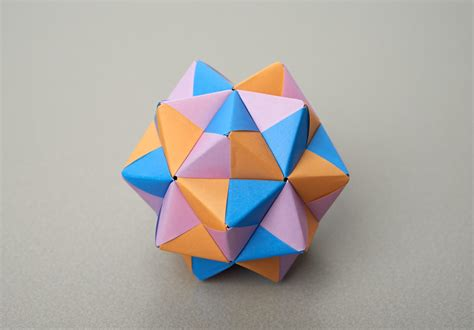Stellated Dodecahedron Origami - folding challenges maths org