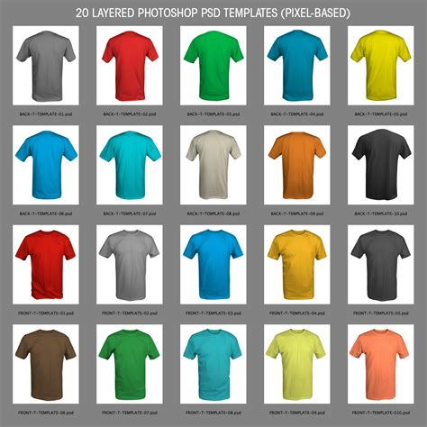 15 free psd templates to mockup your t shirt designs