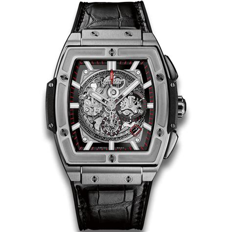Hublot Senna 88 Black Leather hublot titanium watches spirit of big