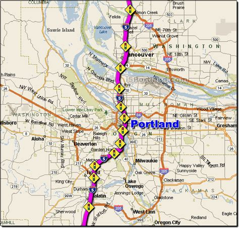 map of interstate 5 through oregon i 5 portland traffic maps and road conditions