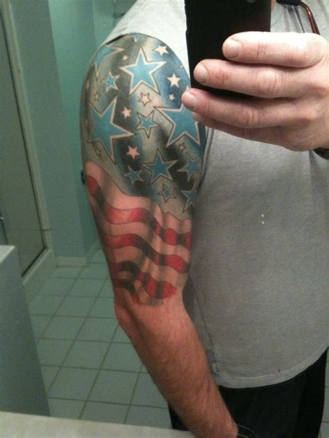 quarter sleeve american flag tattoo half sleeve flag tattoo for men image tattoos book 65