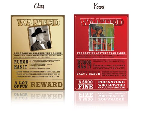 wanted poster invitation template wanted poster invitations