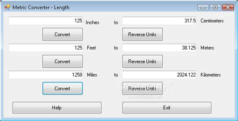 calculator feet to meter inches to meters conversion table length conversions